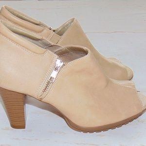 Aerosoles Heelrest booties peep toe shoes NEW 8.5